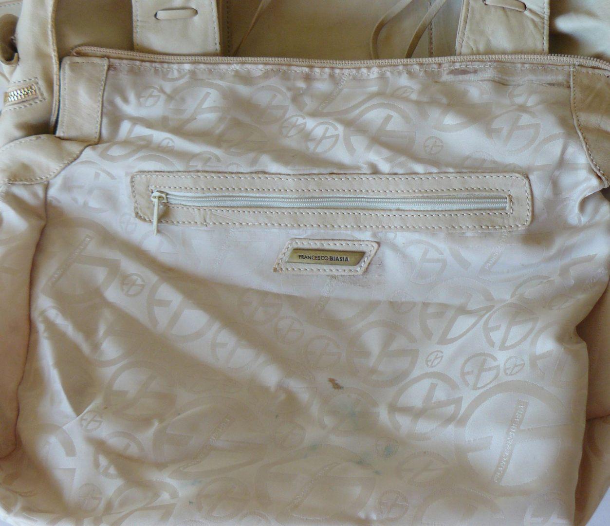 Francesco Biasia Boho Leather Fringe Slouchy Crossbody Shoulder Bag Satchel XL image 6