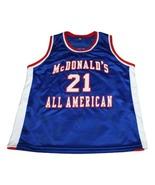 Kevin Garnett #21 McDonalds All American New Men Basketball Jersey Blue ... - $44.99+