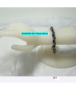 Jewelry By Two Gems (B5) Black and Stainless Byzantine Chainmaille Bracelet - $50.00