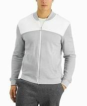 Alfani Men's Track Jacket Colorblock Full-Zip Classic Fit (Gray, 2XL) - $11.88