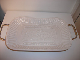 SIENNE BY GODINGER BAKING SERVING DISH GIVE US THIS DAY OUR DAILY BREAD ... - €17,49 EUR