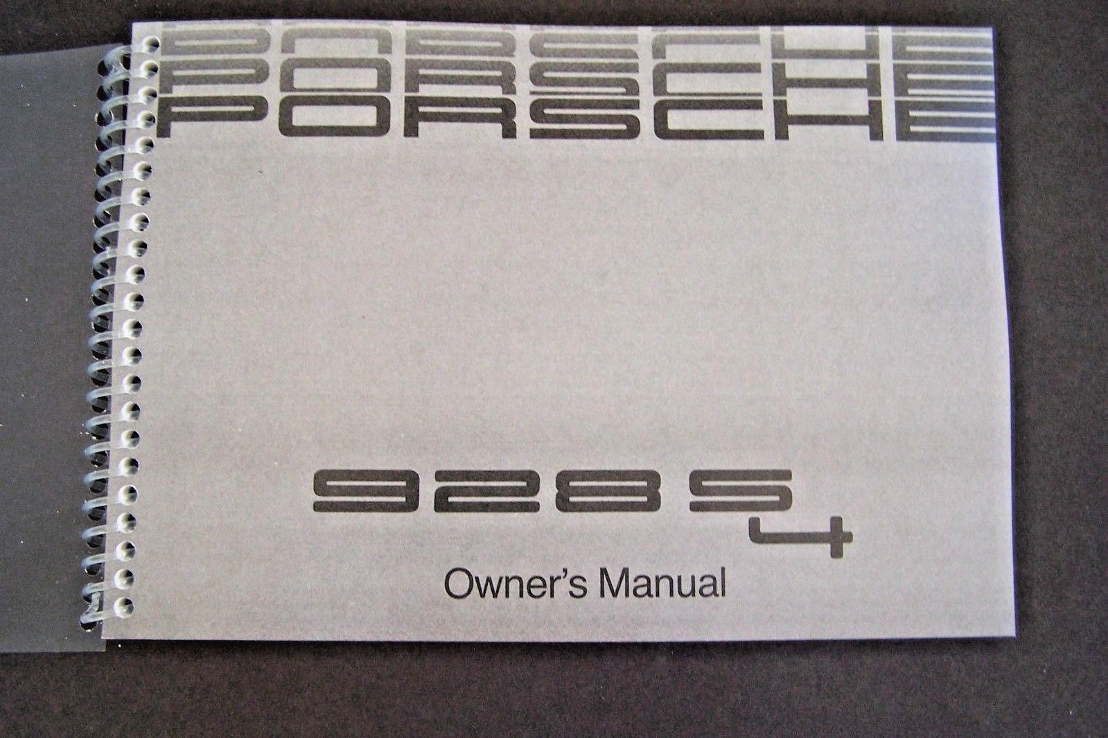 Primary image for 1989 Porsche 928 s4 Owners Manual Parts Service 928s4 New factory Reprint