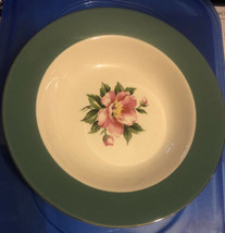 Homer Laughlin Century Service Empire Green Semi Vit Soup Bowl Alliance Ohio - $9.85