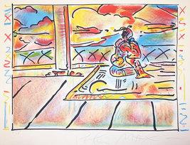"Peter Max ""Tibetan Scene"" 1979 - S/N Lithograph... - $2,200.00"