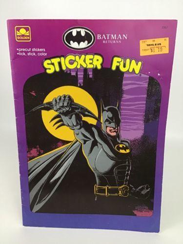 Batman Returns Sticker Fun Golden Books and 50 similar items