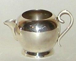 Vintage Silver Plated Metal Sugar Bowl and Creamer Set