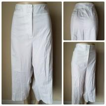 Lane Bryant Women's Pants White Cotton Stretch Casual Straight Leg 2 Pairs 28 - $30.88