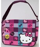 Hello Kitty Messenger Bag: Pattern Check: RETAILS $48.00 - $25.00