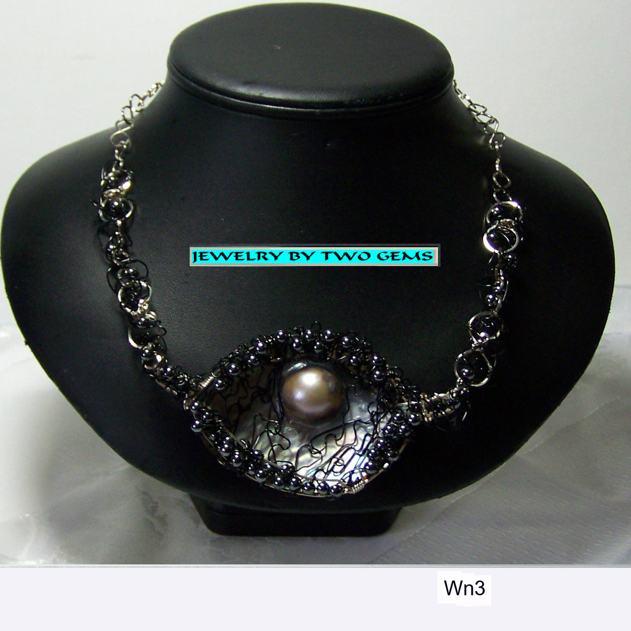 Jewelry By Two Gems (Wn3)  Sterling Silver w Mave Pearl Necklace