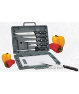 6pc Knife Set w Cutting Board & Case Camping Kitchen RV - $26.96
