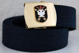 US Army J.F. Kennedy Specal Warfare Blue Belt & Buckle  - $14.99