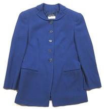 VINTAGE Giorgio Armani for Bergdorf Goodman Cobalt Blue Blazer Jacket sz 38 - $55.43