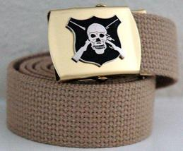 US Army Sniper Khaki Military Belt & Buckle  - $14.99