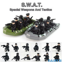 Military Army Soldier SWAT Police Team With Weapon Building Blocks Lego ... - $14.99