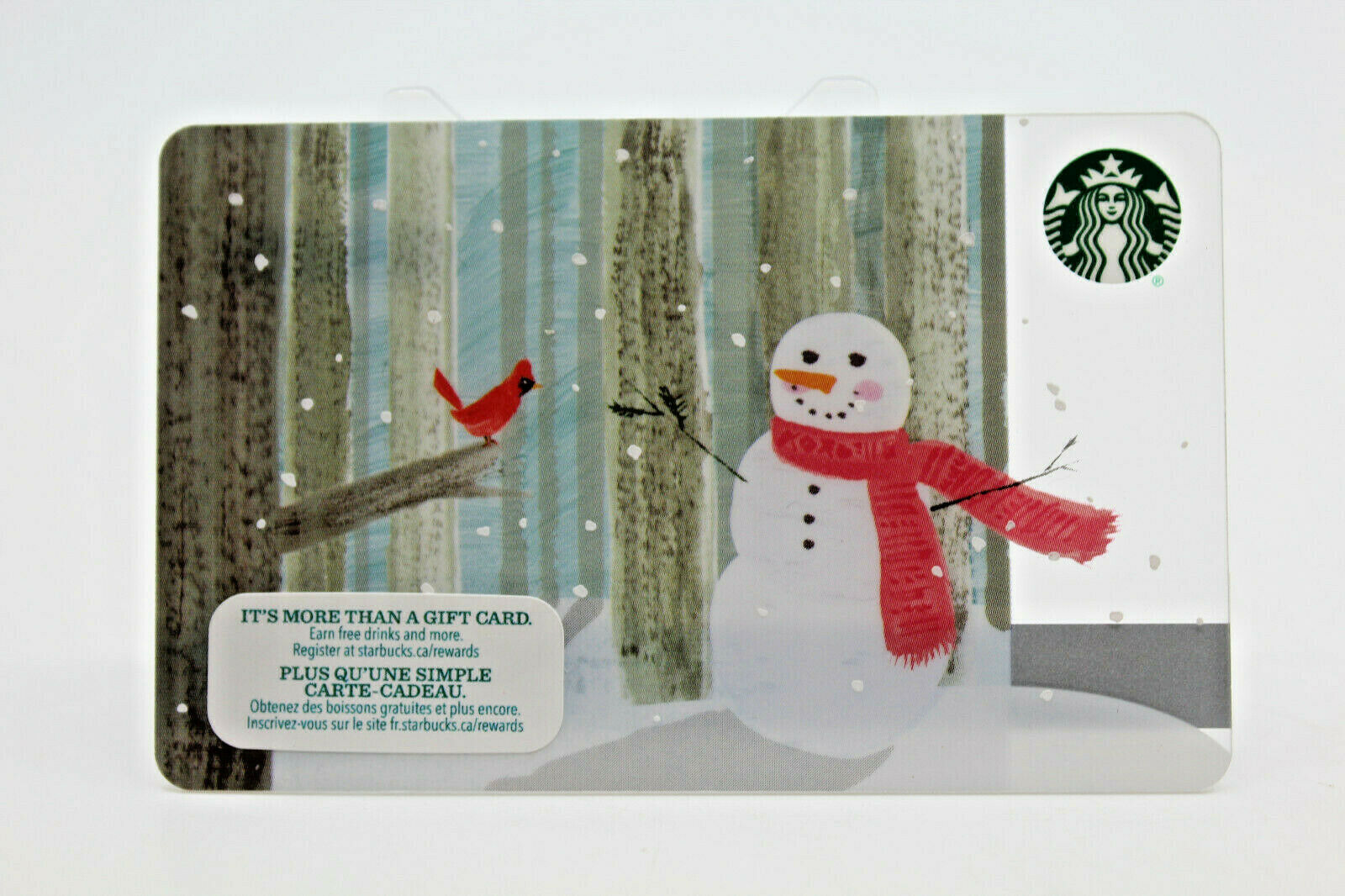 Primary image for Starbucks Coffee 2015 Gift Card Snowman Winter Red Bird Holiday Zero Balance