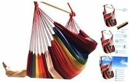 Hammock Sky Large Brazilian Hammock Chair Cotton Weave - Extra Long Bed ... - $73.27