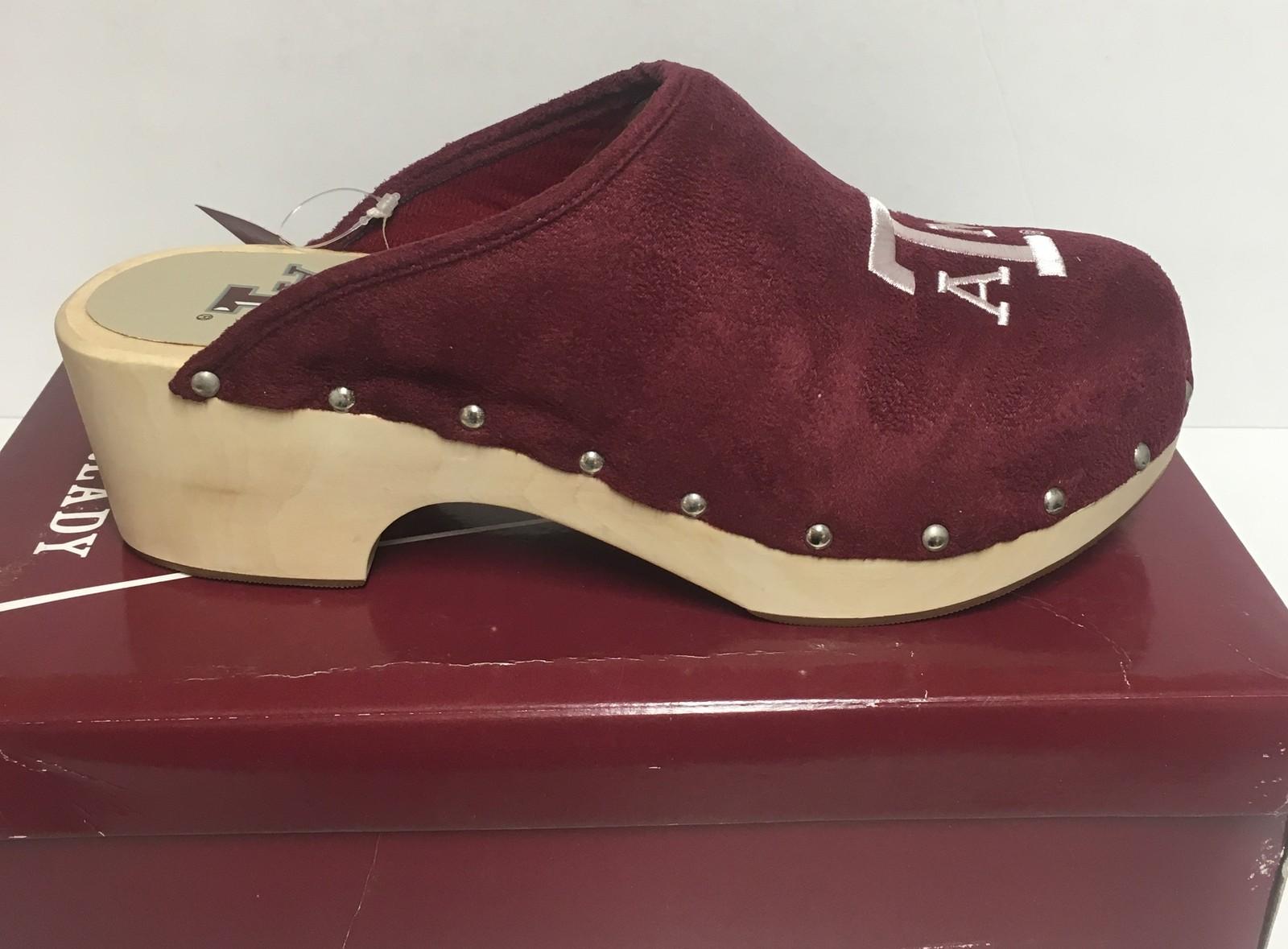 Texas A&M University Women's Team Shoes Mules Clogs Various Sizes