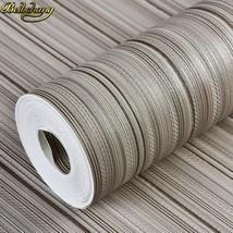 beibehang papel de parede. Modern simple coffee off-white/black striped wallpape - $59.95