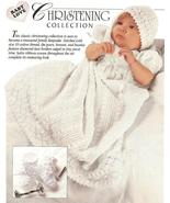 CHRISTENING GOWN~BONNET & BOOTIES CROCHET PATTERN - $5.99