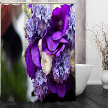 Best Nice Custom Orchids Flower Shower Curtain Bath Curtain Waterproof Fabric Fo image 5
