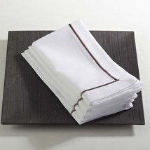 Fennco Styles Embroidered Line Design Napkins, Set of 4, Many Colors (Mo... - $24.74
