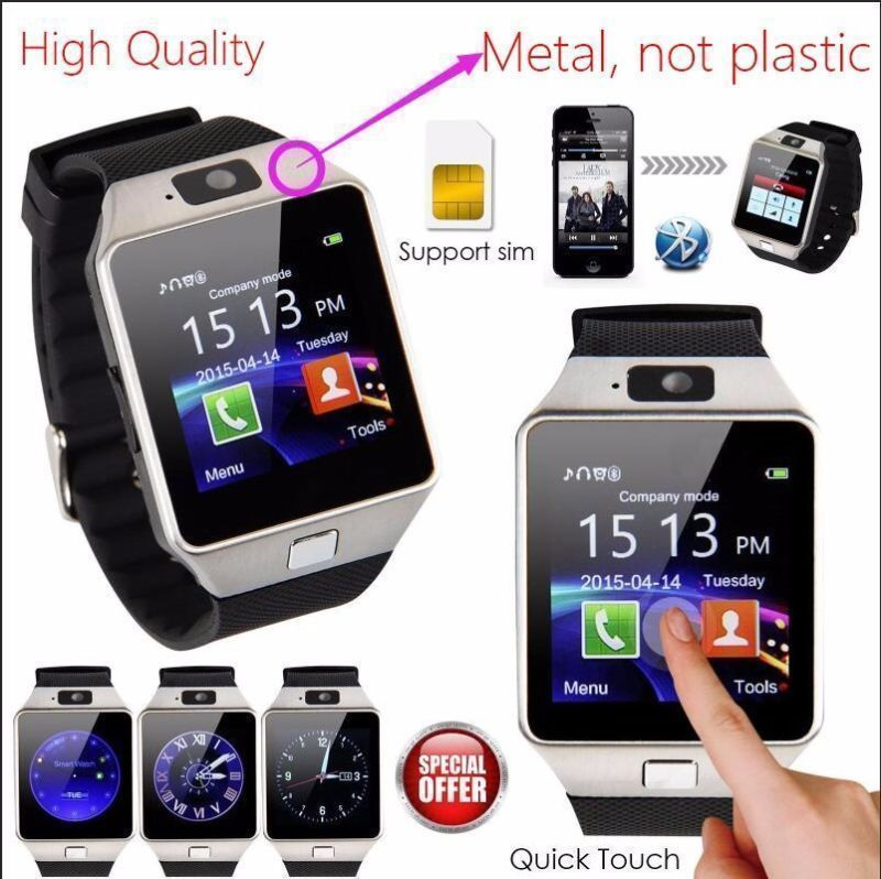 wholesale 20 pack DZ09 Smart Wrist Watch GSM Phone For Android Samsung iphone for sale  USA