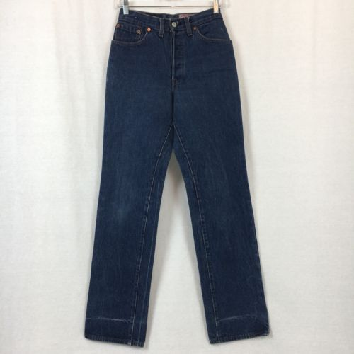 Vintage USA Levis 501 Womens Jeans Mom High Waist Button Fly Actual Size 25x31.5
