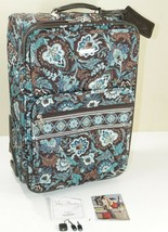"VERA BRADLEY Java Blue 21"" Pullman Rolling Luggage XL Suitcase 2 Compart... - $79.43"