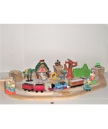 Huge Lot of Vintage of Train with Wooden Tracks and Figures Playset - $29.69
