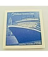 Holland America Line Coaster Delft Blue Tile Cruise Ship Coaster Zuiderdam - $18.70