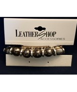 """Leather Shop Barrette Hair Clip w. beads and bands - 3.5"""" - $5.89"""