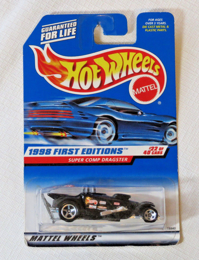 Hot Wheels Mattel 1998 First Editions Super Comp Dragster #22 of 40 cars #655