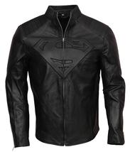 Superman Man Of Steel Black Smallville Faux Leather Jacket - $79.95