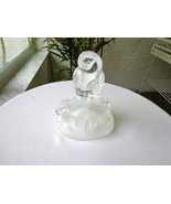 Cris D'Arques Crystal Owl Figurine on Frosted Base - $14.85