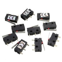 10pcs 5A 250V AC C+NO+NC Micro Limit Switch Roller Arm Lever Subminiatur... - $3.86