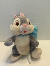 "Disney Store 10"" Bambi Movie THUMPER Blue Bow Plush Rabbit Easter Bunny - $5.89"