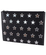New Yves Saint Laurent YSL 397295 Poncho Lux Stars Leather Document Hold... - $247.50