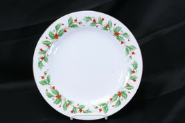 "China Pearl Noel Xmas Dinner Plates 10.5"" Lot of 4 Brown Back Stamp - $33.31"