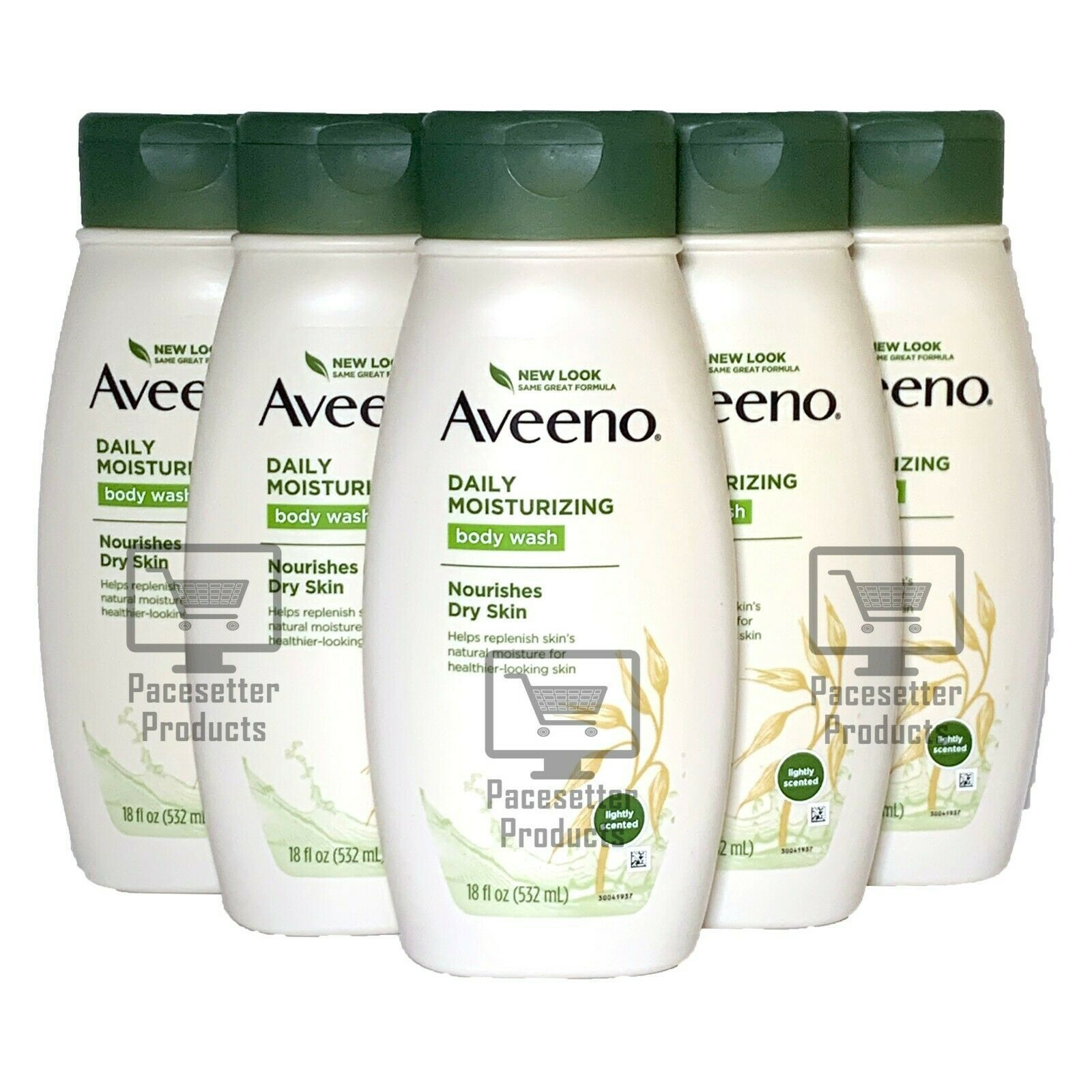 Primary image for Lot of 6: NEW Aveeno Daily Moisturizing Oatmeal Lightly Scented Body Wash 18 oz