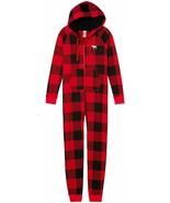 Victorias Secret PINK sz XS~Hooded Sherpa Long Jane~ Red Black Plaid - $83.66