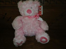 Ganz Hugs & Kisses Bear Pink Soft Plush XO Hearts 12 in Valentines Day New  - $57.83