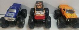 Hot Wheels Monster Jam Fire Starter, Blue Thunder Truck 1:24 Lot 3 Frict... - $9.49