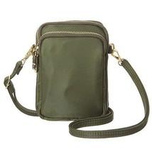 Small Crossbody Cell Smartphone Wallet Multiple Pockets Zipper Closure Bag Green - $27.55