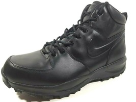 Nike Manoa Leather Mens Boots ACG Black 454350 003/008 Hiking Outdoor  - $80.99+