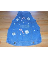 Size Medium Holiday Themed NICE Denim Blue Jean Jacket for Pet Dog NWOT  - $15.00