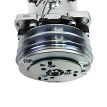 A-Team Performance Sanden 508 Style Silver Clutch V-Belt A/C Compressor, Chrome image 9