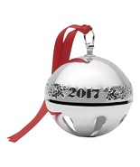 2017 Silver Plated Sleigh Bell Ornament Wallace 47th Edition Christmas D... - $54.04