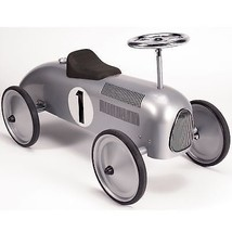 Schylling Silver Racecar Metal Speedster 1970-Now Ride-Ons Tricycles Out... - $141.80