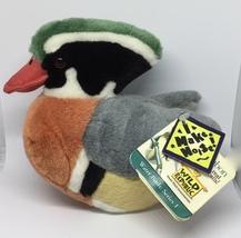 "Audubon Water Birds Wild Republic Wood Duck 6"" Plush Stuffed Animal"