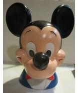 Vintage Walt Disney Mickey Mouse Head Piggy Bank Play Pal Plastics  - $23.70